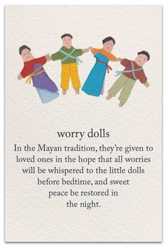 Incorporating different cultures into each loss, respectively, can help with processing of grief and expression. Words Quotes, Life Quotes, Sayings, Grief Support, Life Page, Worry Dolls, Symbols And Meanings, Spiritual Symbols, Best Friendship