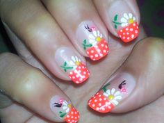 #nail art # orange