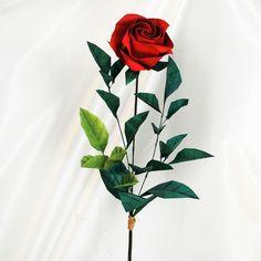 Origami Blume basteln - die ewige Rose zum Valentinsttag