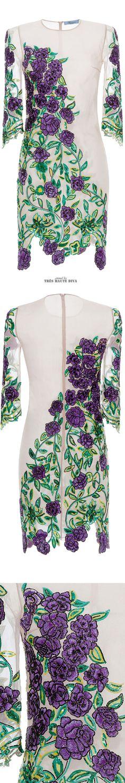 Blumarine Rose Embroidered Sheath Dress SS 2015