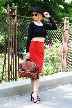 . Leather Skirt, Casual, Skirts, Fashion, Moda, Leather Skirts, Fashion Styles, Skirt
