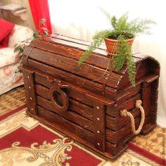 """Купить Сундук """"Мечта Солохи"""" - дерево состаренное - мебель из массива, стиль кантри, шале, сундук"""