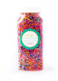 Sunset Twinkle Sprinkle Medley, Pink and Gold, Purple Sprinkles, Sunset Colors, Sprinkle Mix, Pink Sprinkles, Gold Beads -- Med (8 oz) by Sweetapolita on Etsy https://www.etsy.com/listing/246836305/sunset-twinkle-sprinkle-medley-pink-and
