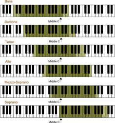 Singable Compass for each Voice Type |  vocal ranges  |     ♫ CLICK to preview more or RE-PIN for later!   ♫