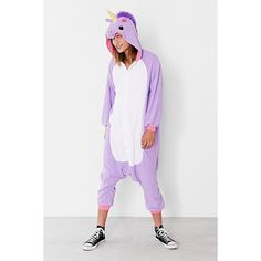 Kigurumi Purple Unicorn Costume (155 BRL) ❤ liked on Polyvore featuring costumes, pajamas, purple, unicorn costume, purple costume, party costumes, kigurumi costume and purple halloween costumes