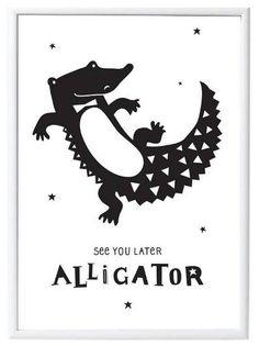 A Little Lovely Company Poster: Crocodile 50 x 70 cm