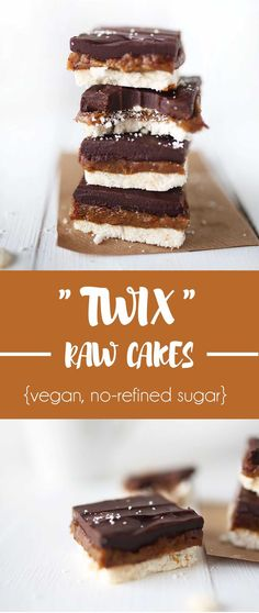 Twix Raw Cakes #healthier #vegan #raw