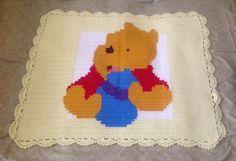 Baby crochet Winnie the Pooh blanket