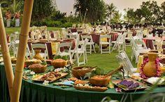 Luau Reception Buffet