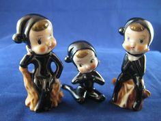 porcelain pixies and elves - Google Search Vintage Santa Claus, Vintage Santas, Christmas Past, Vintage Christmas, Brownie Fairy, Elf Yourself, An Elf, Christmas Figurines, Pixies