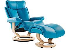 Stressless® Magic Leather Recliner - Danske Mobler Taupo I NZ Made Furniture I Living & Lounge I Beds & Bedroom I Dining I Home Styling