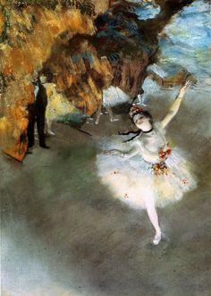 DEGAS, E., La clase de baile, 1874.