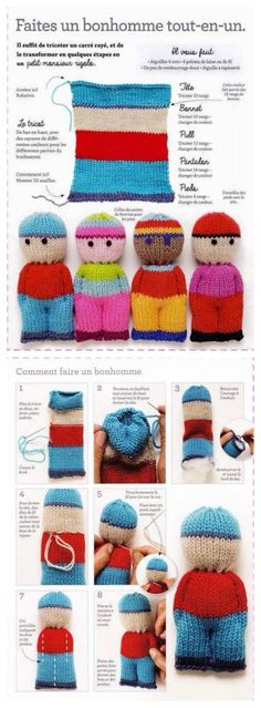 suspended Crochet and knit – Susann Scheffel Account suspended Crochet and knit – Susann Scheffel Amazing Tricks. - Jolly Tots - Small Knitted Dolls Knitting pattern by Dollytime Knitted Doll Patterns, Knitted Dolls, Crochet Toys, Knitted Hats, Knitting Patterns, Knit Crochet, Knitted Headband, Knitting Ideas, Tuto Tricot