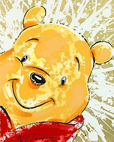 Winnie the Pooh - mmmmm - David Willardson - World-Wide-Art.com -