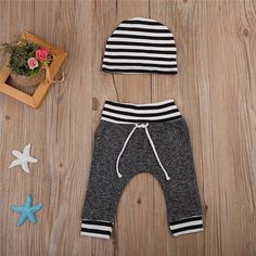 Streetin' Striped Leggings With Matching Headband from kidspetite.com!  Adorable & affordable baby, toddler & kids clothing. Shop from one of the best providers of children apparel at Kids Petite. FREE Worldwide Shipping to over 230+ countries ✈️  www.kidspetite.com  #leggings #baby #infant #clothing #newborn #girl
