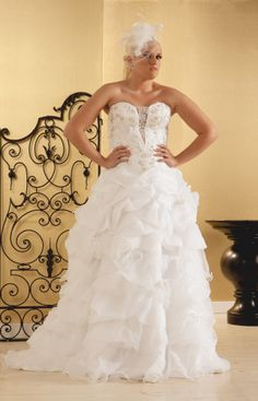 $400 OFF MEMORIAL DAY SALE! Spencer: Plus Size Ball Gown: Sweetheart & Feathers | Real Size Bride