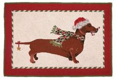gran - next year!    Dachshund Dog - Christmas Rug  $114.99