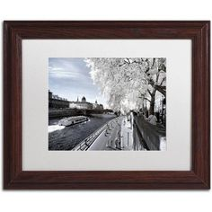 Trademark Fine Art Another Look at Paris X Canvas Art by Philippe Hugonnard, White Matte, Wood Frame, Size: 16 x 20