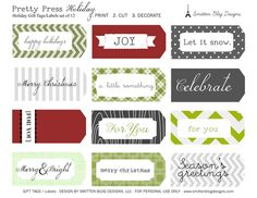Lots of various holiday printables. Halloween, Christmas, Thanksgiving...