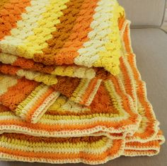 Vintage+Afghan++Candy+Corn+Colors++Lap+Blanket++by+catnapcottage,+$29.50