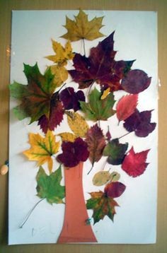 boom gemaakt van echte bladeren