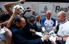 Zidane, reclamo del Real Madrid en su pretemporada en Canadá