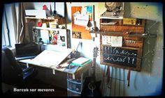 bureau sur mesure. me contacter! #diy #palet #palette #bois #wood #woodwork #atelier #studio #Montréal #tools #outils
