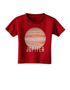 TooLoud Planet Jupiter Earth Text Toddler T-Shirt Dark