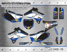Yamaha YZf series '98-'02 - Moto-StyleMX - graphics decals kits Yamaha Yzf, Custom Design, Decals, Graphics, Kit, Motorbikes, Tags, Graphic Design, Sticker