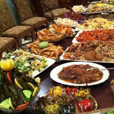 Arabic feast- Arabic food is delicious!!!
