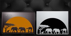 Can't wait for the new Star Wars movie? Grab this new original AT-AT elephant safari vinyl decal. Everyone has a laptop, make yours unique! (If you'd like one for your wall in a larger size it will result in an increase in price.)  Available Here: https://www.etsy.com/listing/252820699/star-wars-at-at-safari-with-elephants?ref=shop_home_active_2