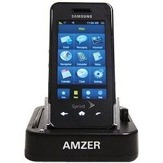 Amzer Desktop Cradle for Samsung Instinct - Black. 2 in 1 Desk Top Charger. USB Cable and AC Charger Included. Charge and Sync your device from computer. AC adaptor included to charge through wall outlet. Charge Extra battery simultaniously.