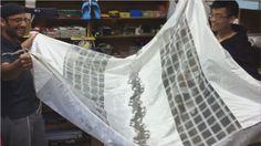 Chuppah silk cover top 75x75 sheer