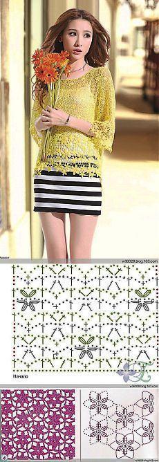 Letras e Artes da Lalá: Blusas de crochê (fotos: google - com receitas. Ob. Não vendo nenhum produto)