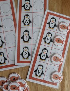 Penguin ABC matching activity.  Penguin alphabet activities for preschool, pre-k, SPED, ECE