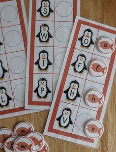 Penguin ABC matching activity. Penguin alphabet activities for preschool, pre-k, SPED, ECE