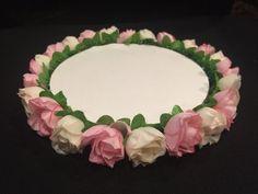 ELIXITA Artificial silk Flowers Table Platter Holder Wedding Decoration cupcakes #ELIXITA