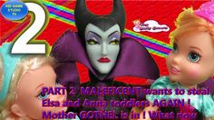 PART 2  MALEFICENT wants to steal Elsa and Anna toddlers AGAIN ! Mother ...