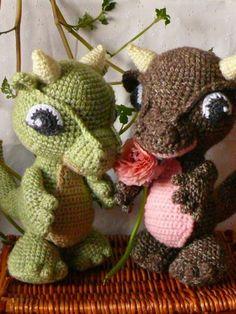 Amigurumi Baby Dragon Crochet Pattern.