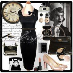1950's secretary style