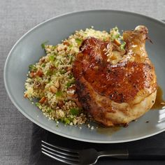 Moroccan Chicken with Minty Date Couscous | Food & Wine - use quinoa or brown rice couscous