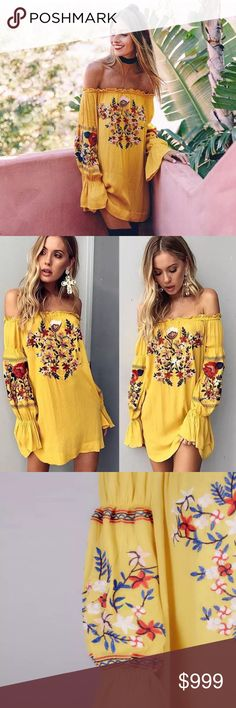 ▪️coming soon▪️Bahia Yellow Floral Tunic Dress •Coming soon •Like the listing and will tag you as soon as it arrives. •Adding actual pics as soon as it arrives.  •Comes in Small, limited quantities.  Bahia Yellow Floral Tunic Dress, it's gorgeous, brand new without tags, boutique item. Floral design might be slightly different.                             🐣n o • t r a d e s🐣                    s m o k e • f r e e • h o m e             s a m e/n e x t • d a y • s h i p p i n g Rebellious…