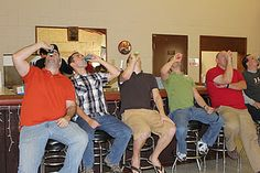 Baby shower game with the guys! See who can drink beer from the baby bottle the fastest!