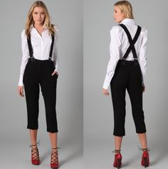 1000+ Images About Formal Casual Womenu0026#39;s Suspenders On Pinterest | Suspender Pants Suspenders ...