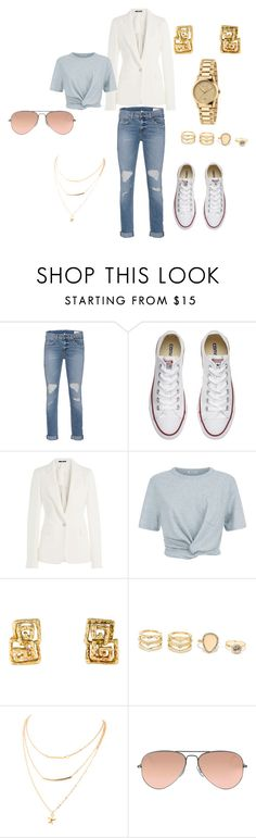 """""""Dressed up and Down"""" by kendramcdonald on Polyvore featuring rag & bone, Converse, Maison Margiela, T By Alexander Wang, LULUS, Ray-Ban and Gucci"""