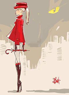 Feminidad felina en las ilustraciones de Otto Schmidt