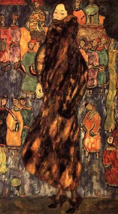 NOT DETECTED Gustav Klimt Original Title: Der Iltspelz Date: 1916-1918 Style: Art Nouveau (Modern) Period: Late works