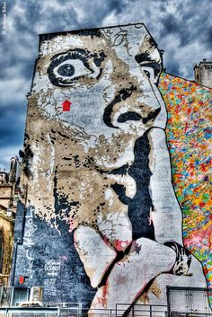 Jef Aerosol - place Stravinski - Beaubourg - Paris - 2011