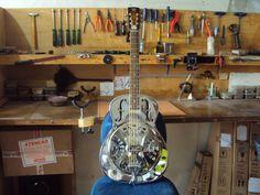 Regulagem e adaptações em violão Dobro resonator - Oficina das Guitarras Mozart
