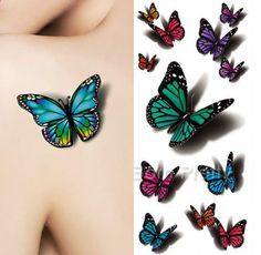 Temporary Tattoo DIY Body Art! No Poison, Environment Friendly. You can stick it in the neck, arms, waist, legs, etc. You can also hide the body scars. Clean and dry the skin completely Cat our the de